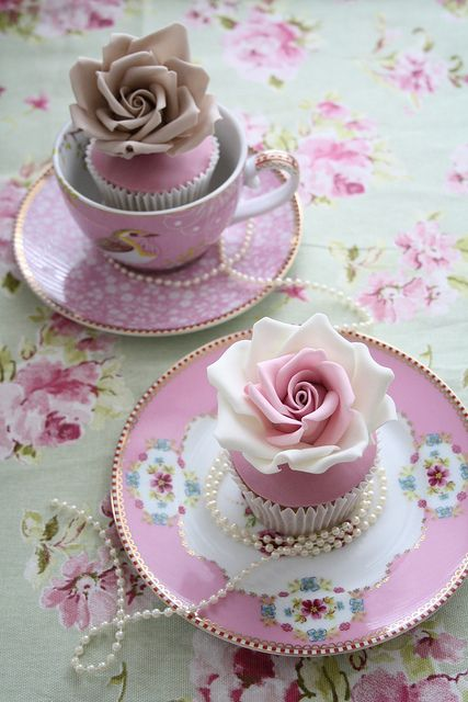 Fancy Teacup Party Cupcakes