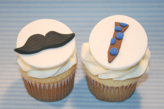 Mustache And Tie Cupcakes