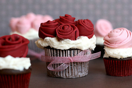 Roses Bouquet Cupcake
