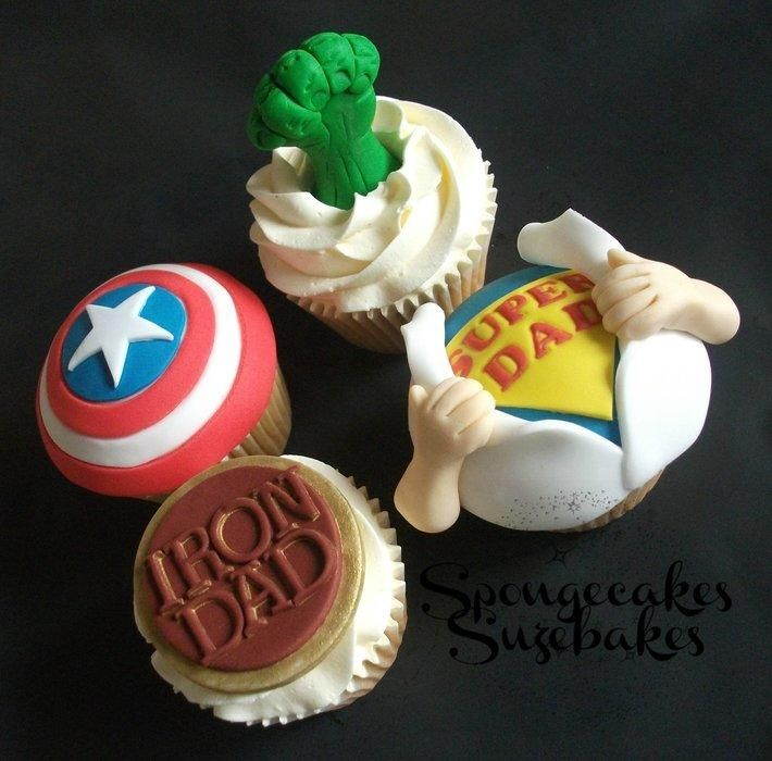 Super Hero Father's Day Cupcakes