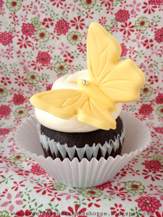 Yellow Butterfly Cupcake