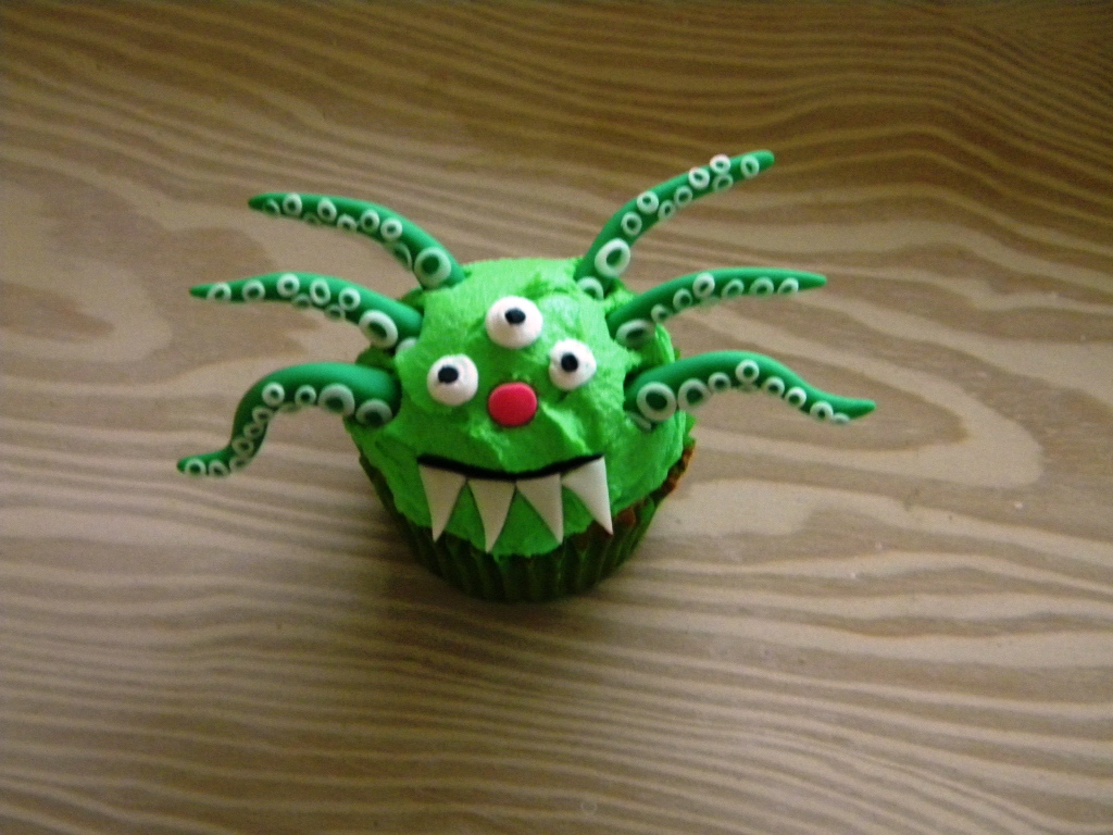 Tentacles Monster Cupcake