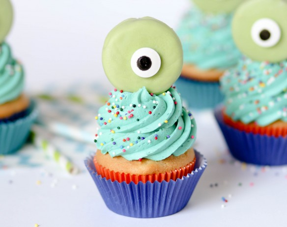 Fancy One-Eyed Cupcakes