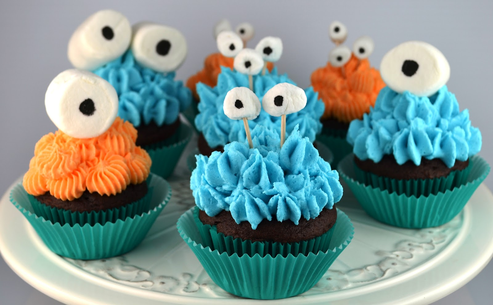 Friendly Monsters Cupcakes