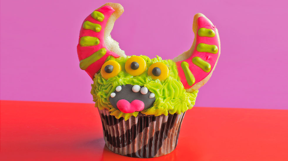 Horned Monster Cupcake