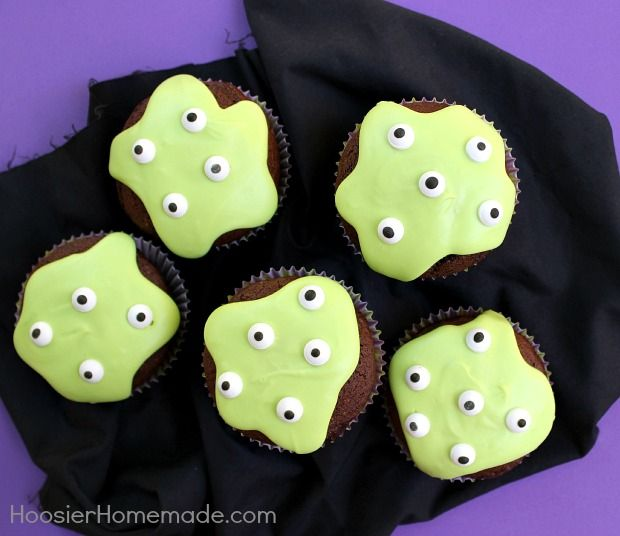 Melting Monster Cupcakes