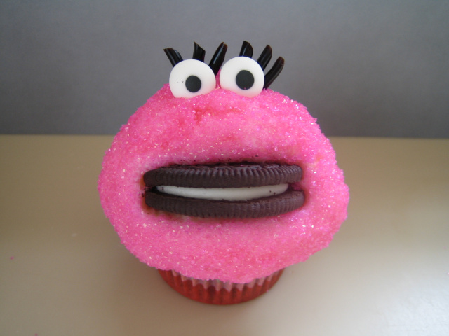 Mrs. Cookie Monster Cupcake