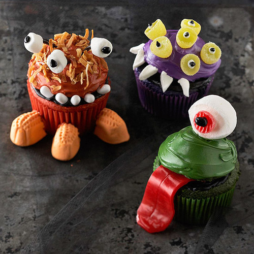 Realistic Monsters Cupcakes