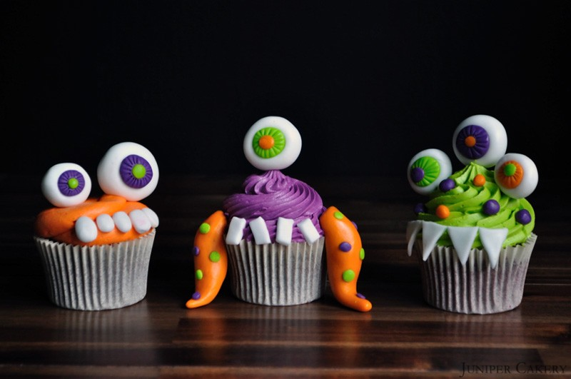 Sticky Monster Cupcakes