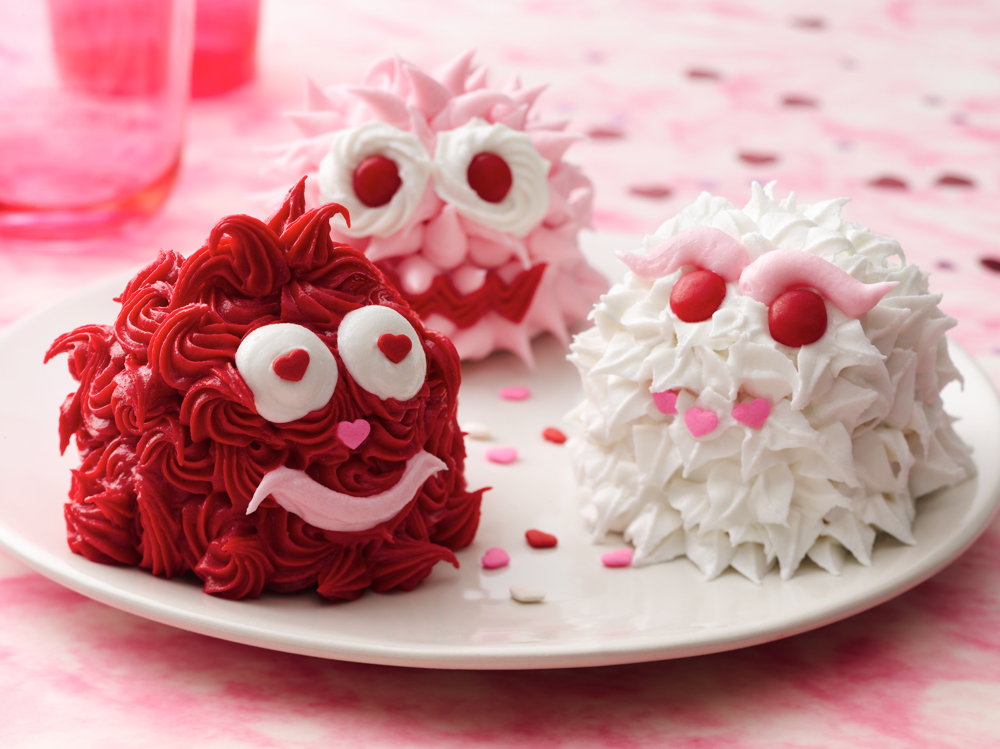 Valentine Monster Cupcakes