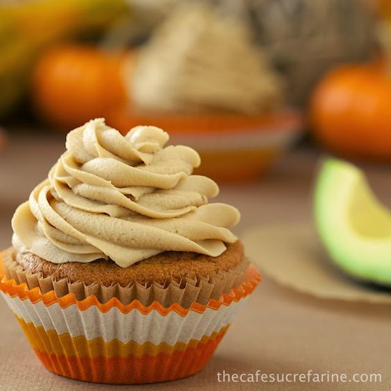 California Avocado Pumpkin Cupcakes