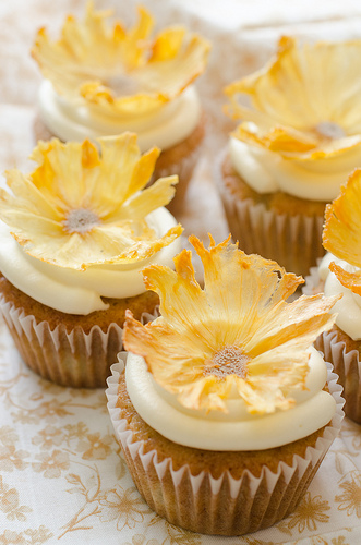 Hummingbird Pineapple Cupcakes