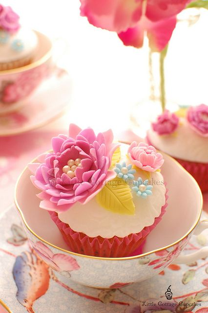 Intricate Floral Cupcake