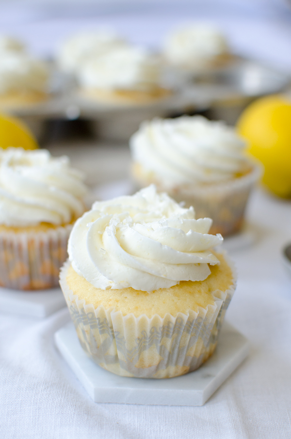 Lemon Curd Stuffed Cupcakes