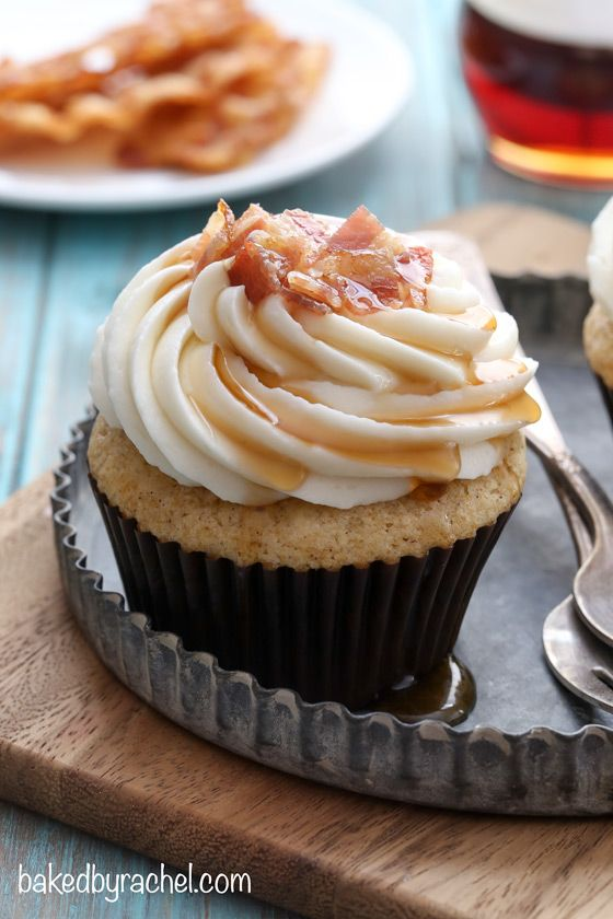 Moist Maple Bacon French Toast Cupcakes