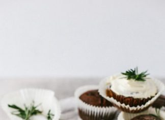 Chocolate Orange Cupcakes with Rosemary Buttercream