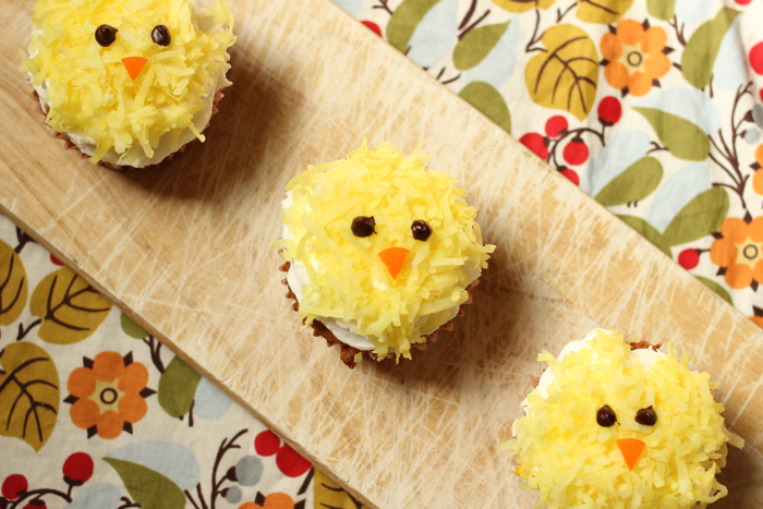 Yellow Chick Cupcakes