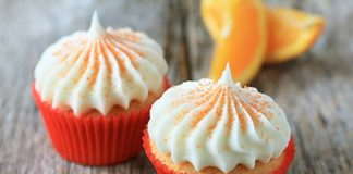 Orange Cream Cheese Frosting Cupcake