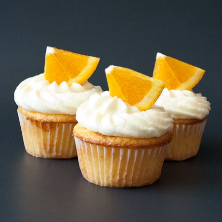 Orange Cupcakes With Orange Buttercream