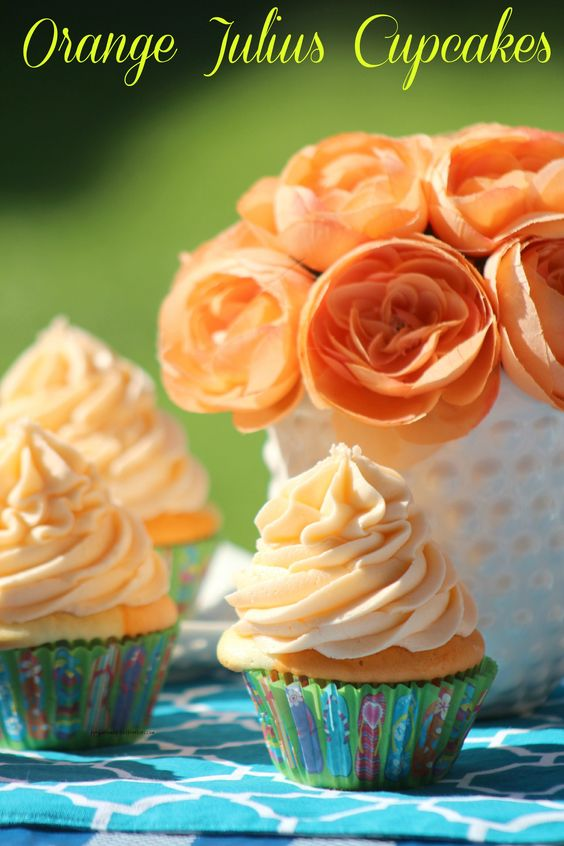 Orange Julius Cupcakes