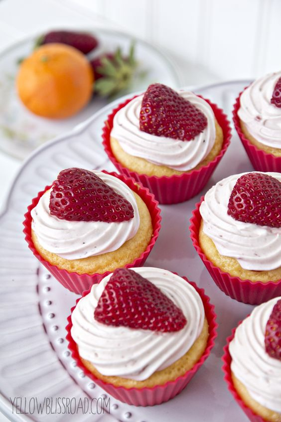 Strawberry Orange Cupcakes