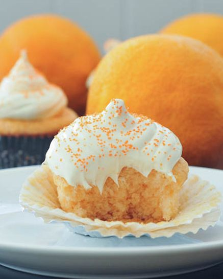 Tangy Orange Creamsicle Cupcakes