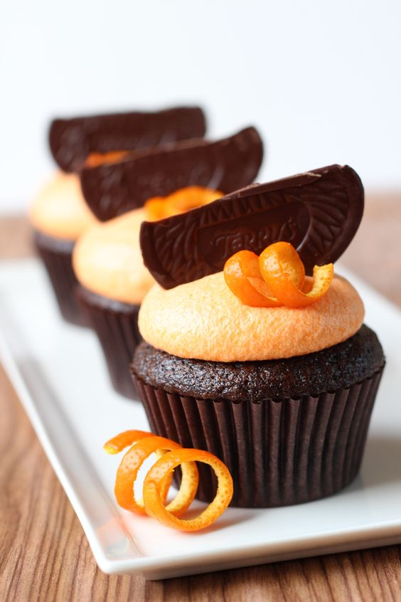 Terry's Dark Chocolate Orange Cupcakes