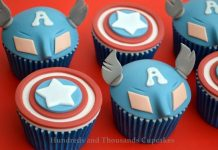 Captain America Inspired Cupcakes