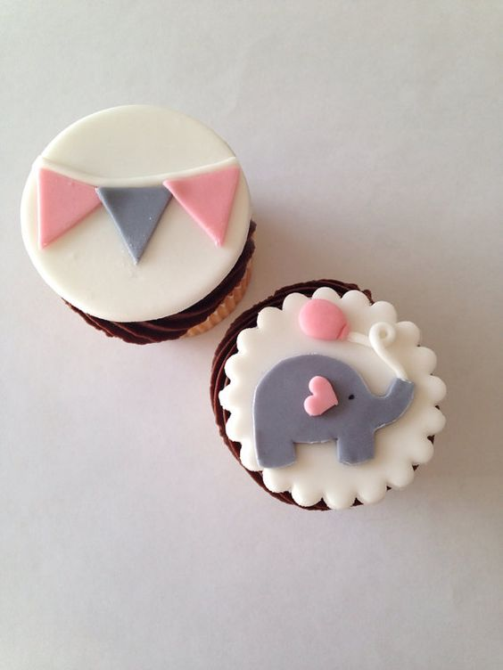 Elephant And Bunting Fondant Cupcake Cupcakes Gallery