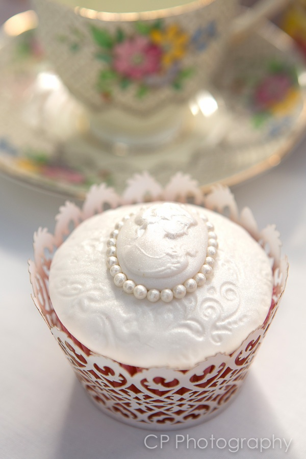 Lace And Cameo Cupcake