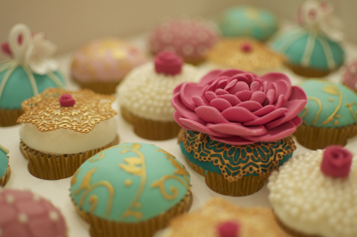 Lotus And Lace Cupcake
