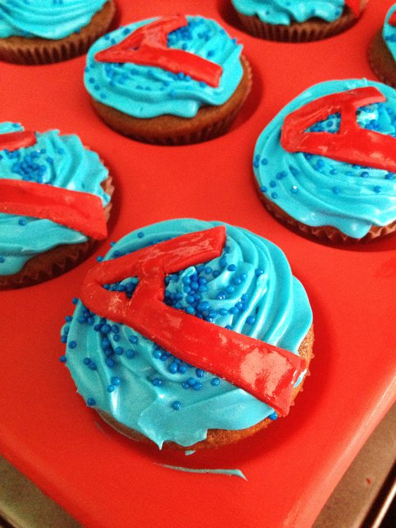 The Avengers Cupcake with Sprinkles - Cupcakes Gallery