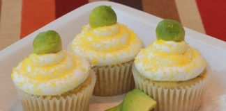 Fluffy Avocado Cupcakes
