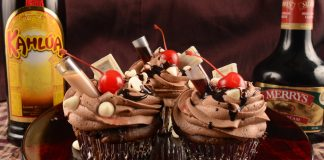 Kahlua and Irish Cream Cupcakes