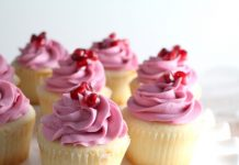 Pomegranate Buttercream Cupcakes