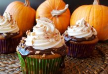 Pumpkin Cupcakes with Chocolate Ganache
