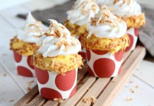 Toasted Coconut Mango Cupcakes