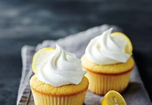 Lemon Cupcakes With Whipping Cream