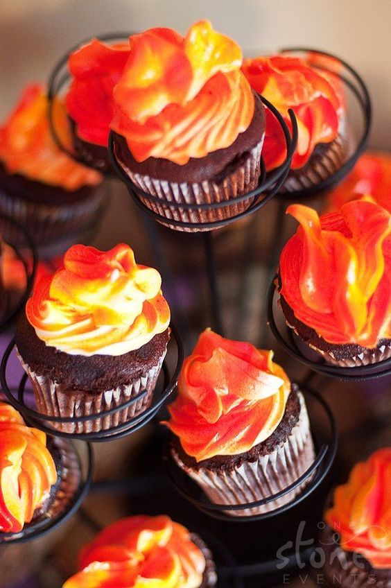 Gorgeous Fire Icing Cupcakes Cupcakes Gallery