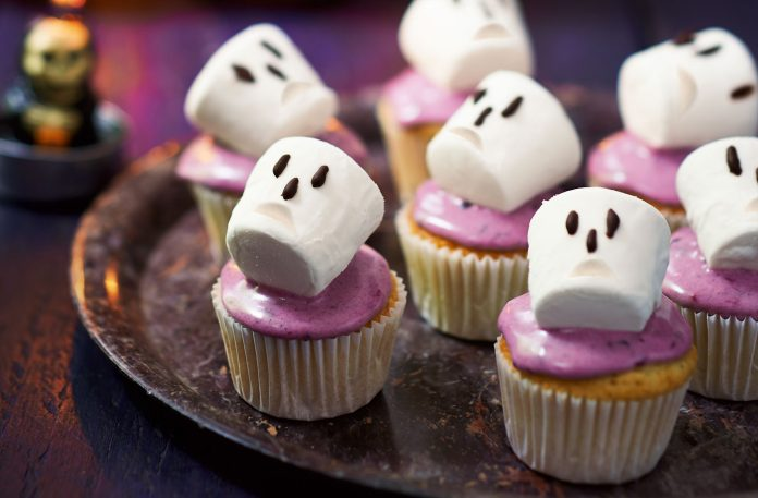 Marshmallow Heads Cupcakes