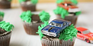 Toy Car Topped Cupcake