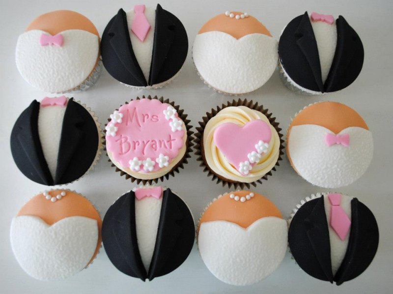 Suit And Wedding Dress Cupcakes Cupcakes Gallery