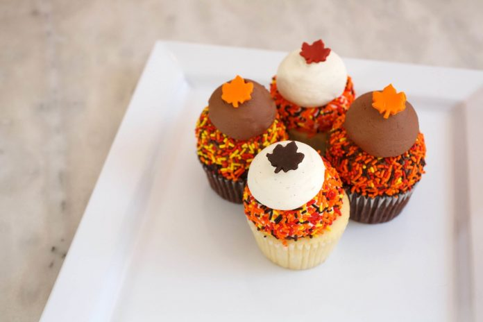 Sweet Autumn Leaves Cupcakes