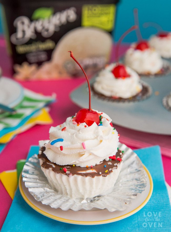 Sprinkled Ice Cream Cupcakes
